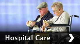 Hospital care for frail elderly people